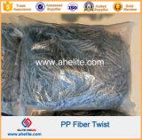 Macrofiber Polipropileno PP Twist Blend Mix Fibra Hibrida Fibrilada 54mm