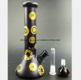 نارجيلة أسود زجاجيّة مع ترس معدن شكل