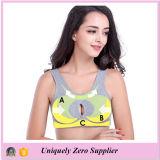 Женщин Пользовательская сетка ткань для Модный бюстгальтер спортивной одежды