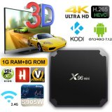 X96 Mini Android Market 7.1.2 Caixa de TV com IPTV Amlogic S905W 1GB de RAM+8chips ROM GB Smart Media Player