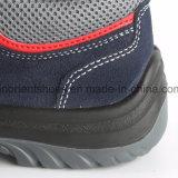 Corte de cuero RS8138 del centro de los zapatos de seguridad