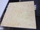 Marmo beige pieno di sole, mattonelle di pavimento di marmo e rivestimento della parete del marmo