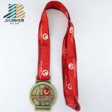 中国の工場卸売のリボンが付いているカスタム円形の金のエナメルメダル