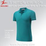 Healongの上の販売のスポーツ・ウェアによってカスタマイズされるCut&Sewの投げ矢のポロのTシャツ