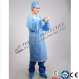 Knitted Cuff를 가진 처분할 수 있는 Meidcal Dressing Surgical Gown