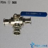 Sanitária do aço inoxidável válvulas de esfera (BV)