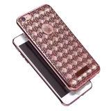 Diamante di lusso di Bling che placca il coperchio di caso di TPU per il iPhone 7 7plus