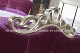 A04 Diseño de lujo Fabric Cama de matrimonio Dormitorios