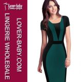 Marken-Form-Kleid Frau MIDI-Bodycon (L36100-3)