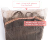 Perruque libre en gros de lacet de cheveux humains de qualité pleine