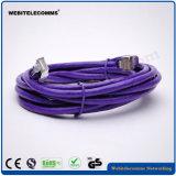 CAT6 кабели шнура заплаты FTP, котор 24AWG сели на мель медные с разъемами плакировкой золота 30inch