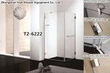정연한 경첩 샤워 울안 간단한 샤워실 목욕탕 문 스크린 8mm 강화 유리 샤워 문 목욕탕 내각