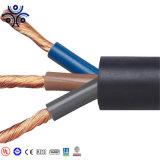 H07RN-F 4*2.5 VDE, Cabo de borracha padrão do cabo flexível de borracha de silicone, bainha de borracha do cabo de soldadura
