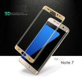 Protetor de tela de filme de vidro temperado de superfície 3D para Samsung Note7