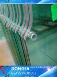 8mm 10mm 12mm temperado clara/Vidro Temperado Empurrador para Piscinas