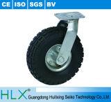 Roue en caoutchouc Heavy Duty rigide ou de la roue avec frein de pivotement
