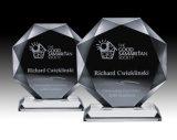 Premio di cristallo rotondo di lusso del trofeo del marchio su ordinazione libero