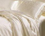 Thx Silk Luxury Jacquard Ivory White 100% Seda Sets de cama