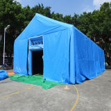 Inflable gigante carpa azul