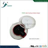 Boîtier en plastique de remplissage rapide de l'imagination PMMA de ventes de Qi de chargeur de chargeur de modèle simple sans fil sec sans fil chaud de bobine clairement