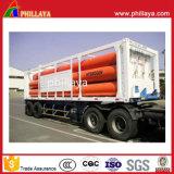 3 Gas-Becken-halb LKW-Schlussteil des Wellen-Transport-CNG