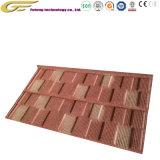 Matériaux de construction de l'asphalte tuile de bardeaux de toiture en acier recouvert de carrelage en pierre