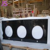 Modieuze Zwarte Countertops van de Keuken van het Graniet met de Dubbele Gootsteen van de Onvoldoende telling