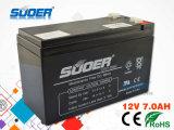 Pila secondaria libera della batteria 12V 7ah di manutenzione calda di Suoer (12V7AH)