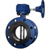 Kohlenstoffstahl A216 Wcb 40 Zoll-pneumatisches Wasser-Offsetdrosselventil