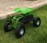 압축 공기를 넣은 타이어를 가진 조정가능한 정원 벤치