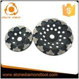 La forme de T segmente la roue de meulage concrète de cuvette de diamant