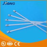 Naakt Staal, Ss 304 de Materiële en Zelfsluitende Banden van de Kabel van de Band van het Roestvrij staal van het Type van Slot van de Bal van de Rol