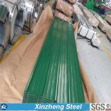 La azotea de Zincalume y de Colorbond que cubre, colorea la hoja revestida del material para techos