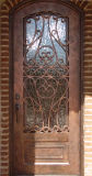 遅の外面の家のための優雅な単一の鉄の出入口