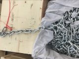 Longue chaîne de tige galvanisée DIN 766