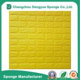 Panneaux de collant de papier de mur de mousse de PE de la protection de l'environnement 3D de décoration intérieure