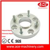 Pie de parte de maquinaria de aluminio de peso