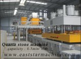 Semi-automático Artificial Quartz Stone Slab Making Plant & Press Machine