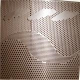 高品質の背景の壁紙の穴があいた金属