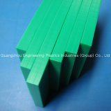 Изготовленный на заказ зеленая плита пластмассы UHMWPE