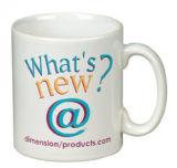 Personalizada impresa a todo color taza de porcelana blanca