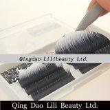 Lilibeauty a mélangé la longueur chaque vison de marque de distributeur de camélia d'effet de fleur de rangée/prolonge en soie de cil