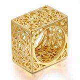 Кольцо цвета нового квадрата ювелирных изделий способа форменный полое серебряное