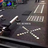 El medio ambiente confortable piso de goma para gimnasio