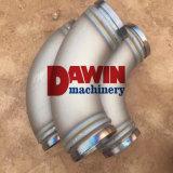 Coude du conduit de débit de la pompe Dn125 concrète (résistant à l'usure) avec le traitement thermique