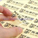Contrassegno stampato autoadesivo trasparente del PVC