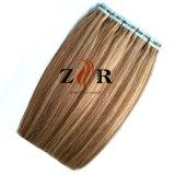 Band van het Haar van de Kleur van twee Toon de Dubbel Getrokken Europese in de Uitbreiding van het Menselijke Haar