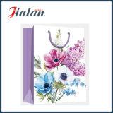 Retro Blumen-Entwurfs-4c gedruckter kaufenträger-Geschenk-Papierbeutel