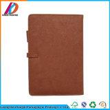 Cahier Pocket en cuir obligatoire de couture de bloc-notes avec le cahier en métal