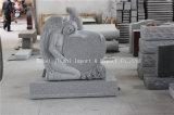 Pietra tombale nera del granito dello Shanxi di nuovo disegno, monumenti dritti neri
